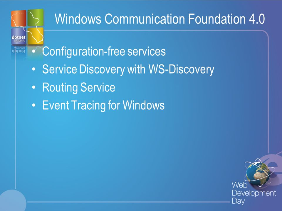 Windows Communication Foundation 4.0
