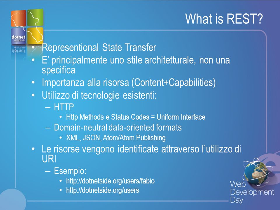 What is REST Representional State Transfer