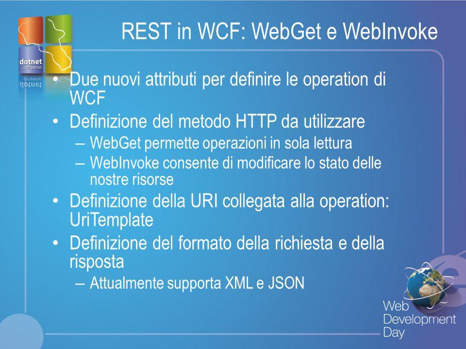 REST in WCF: WebGet e WebInvoke