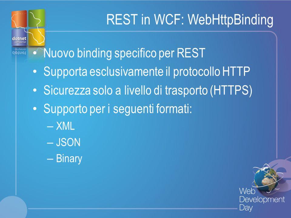 REST in WCF: WebHttpBinding