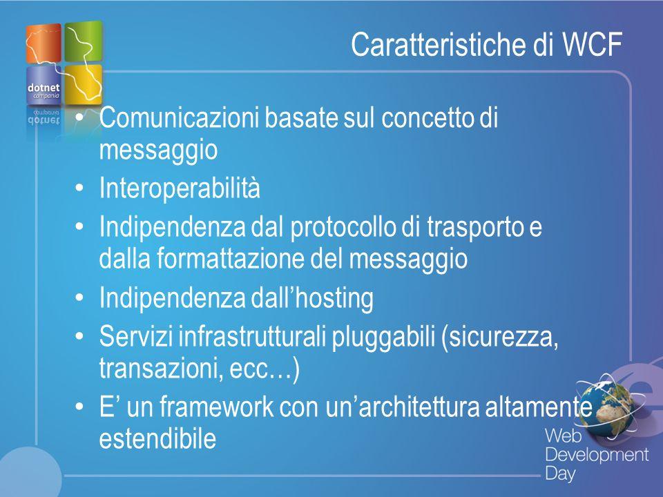 Caratteristiche di WCF