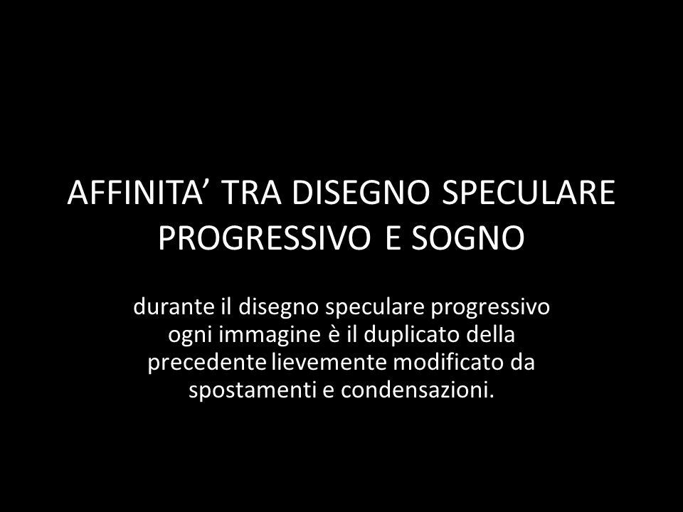 AFFINITA' TRA DISEGNO SPECULARE PROGRESSIVO E SOGNO