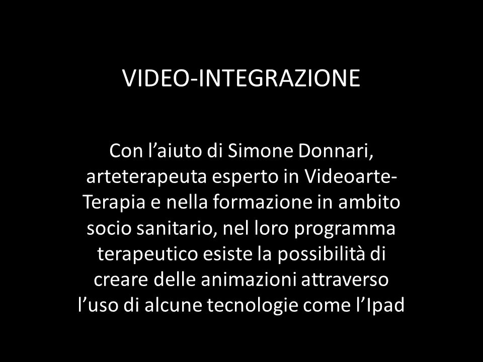 VIDEO-INTEGRAZIONE