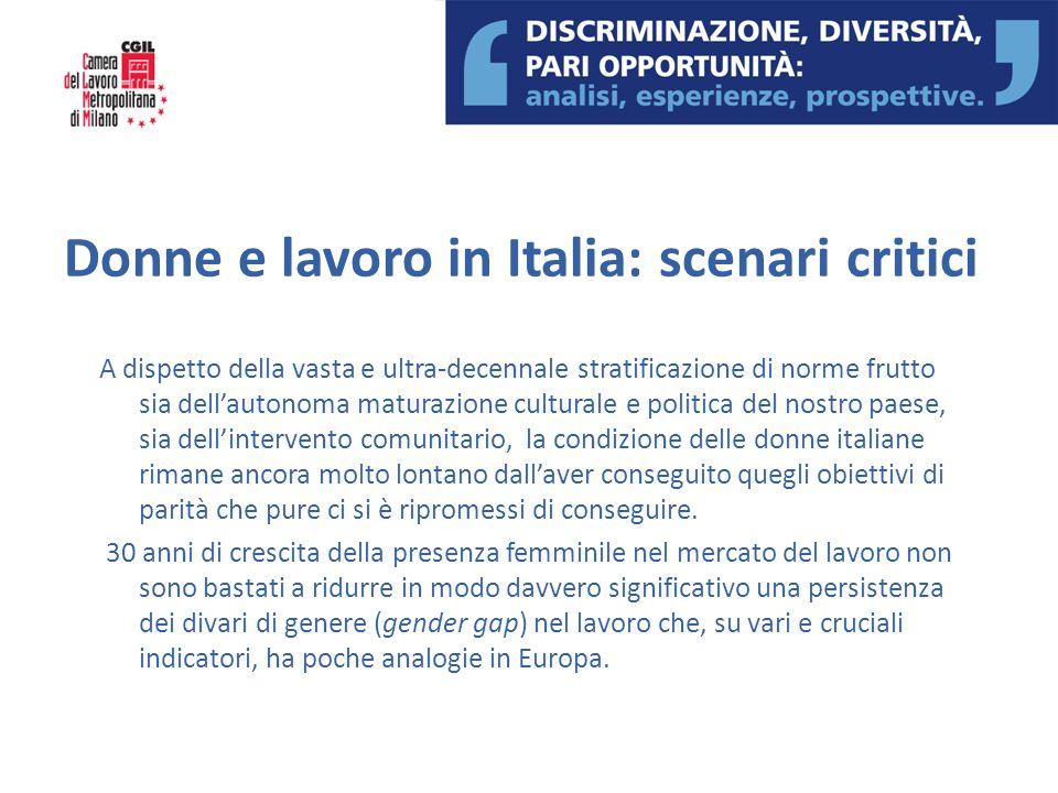 Donne e lavoro in Italia: scenari critici