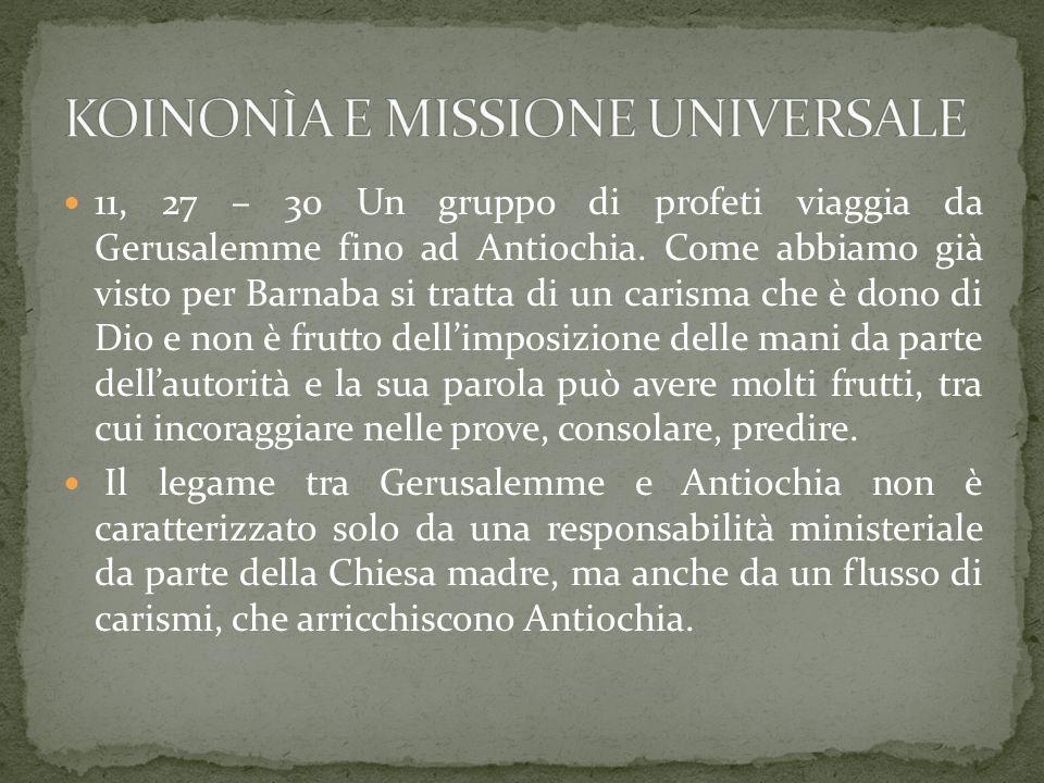 KOINONÌA E MISSIONE UNIVERSALE