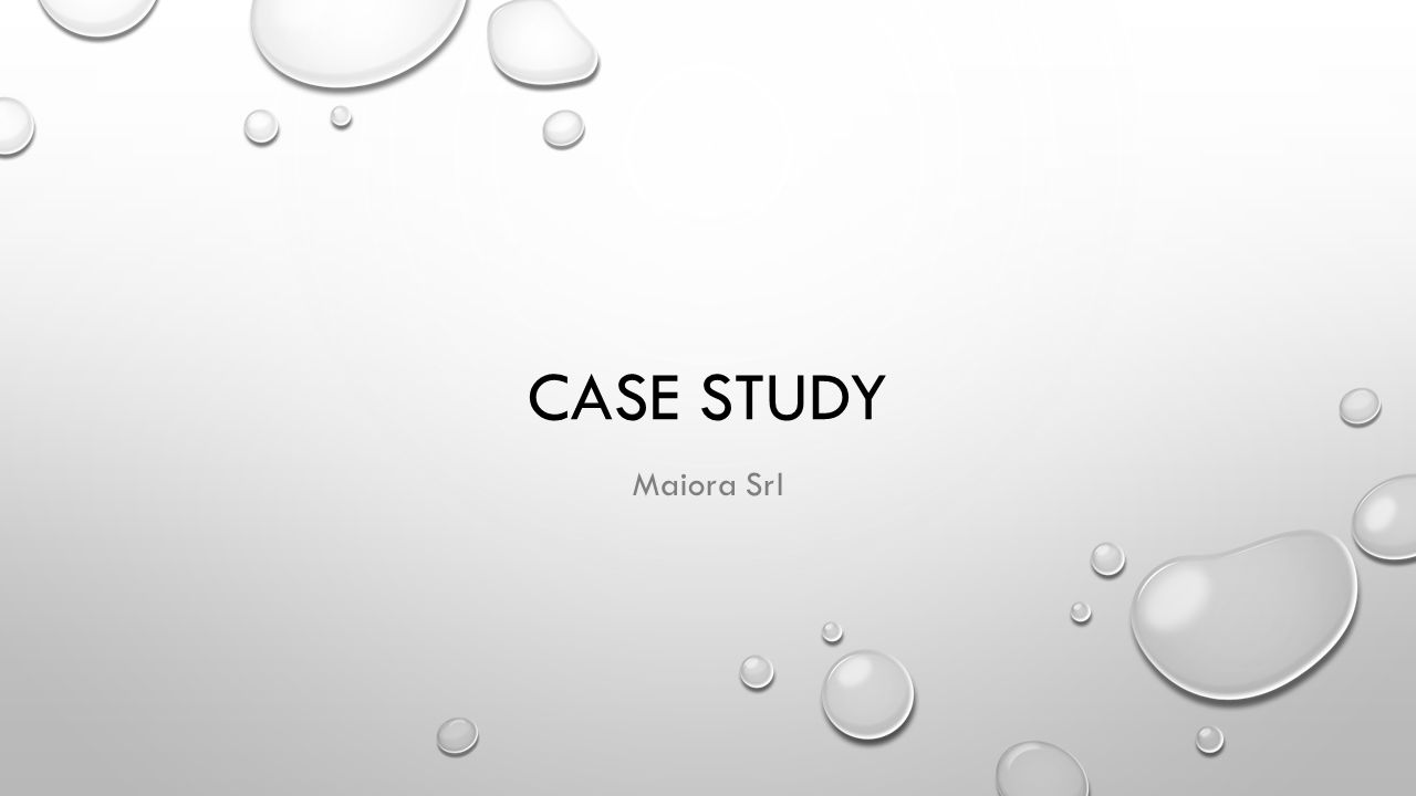 Case study Maiora srl
