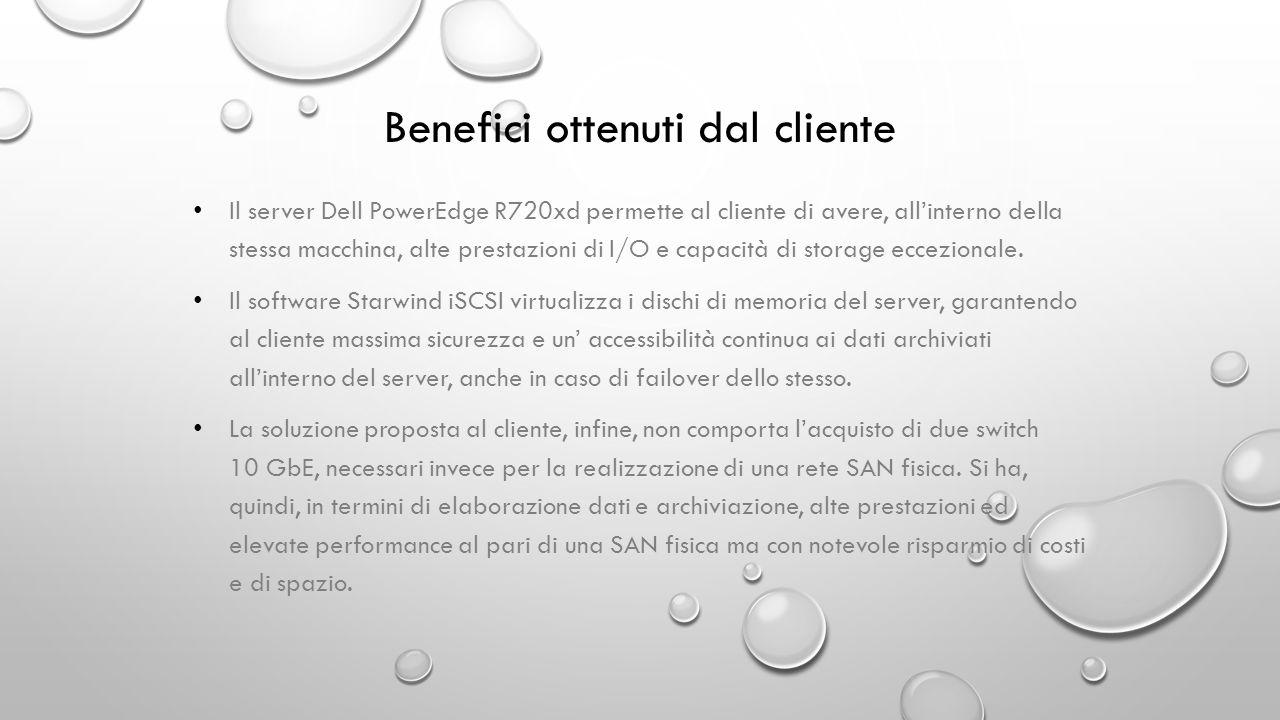 Benefici ottenuti dal cliente