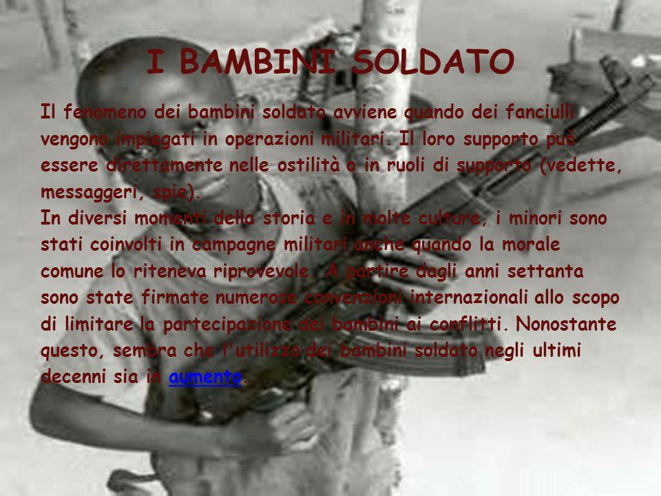 I BAMBINI SOLDATO