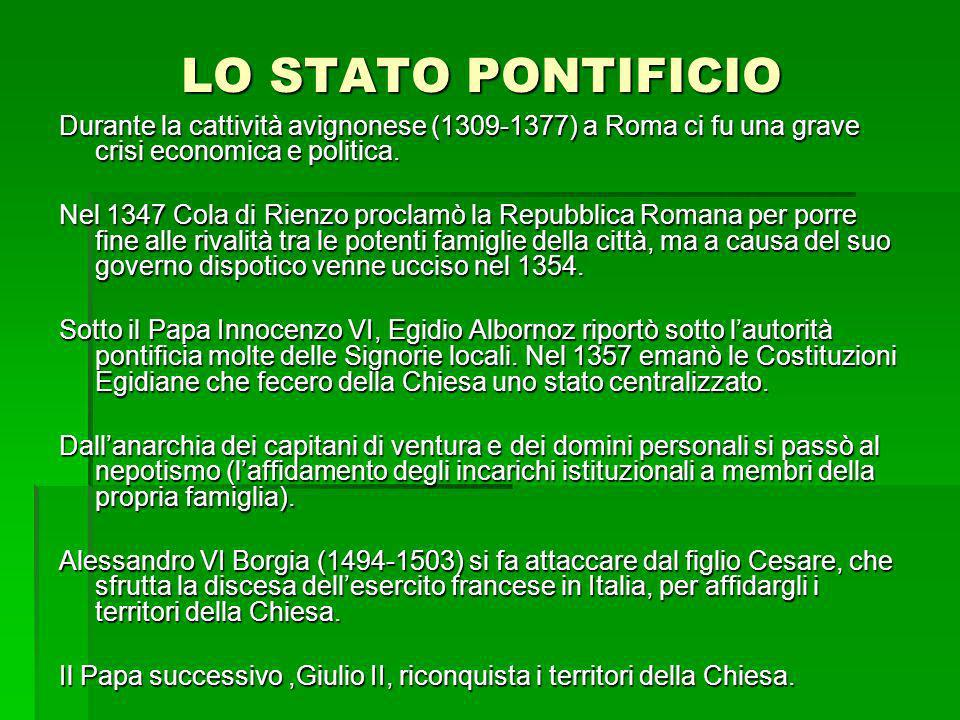 LO STATO PONTIFICIO
