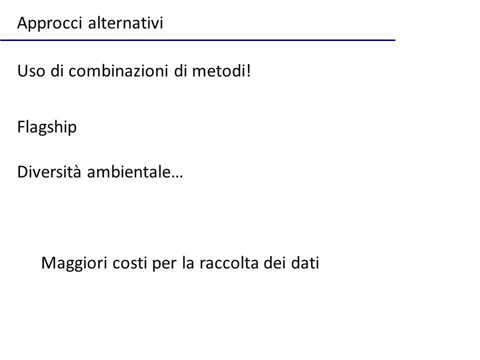 Approcci alternativi Uso di combinazioni di metodi.