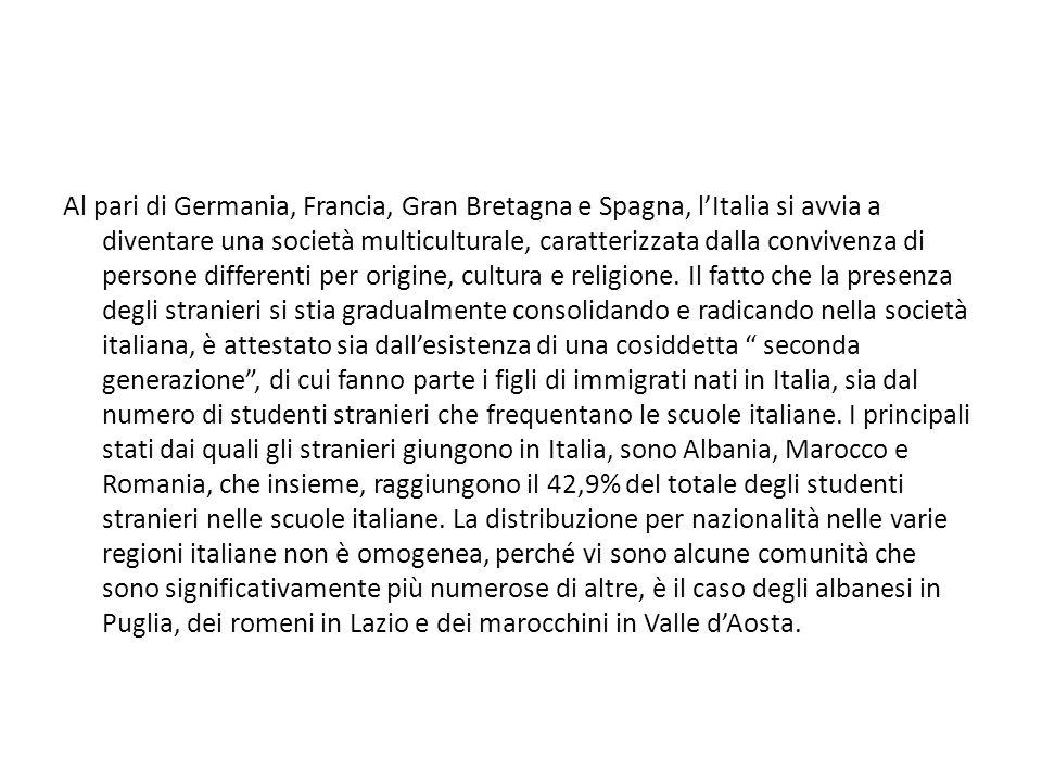 Al pari di Germania, Francia, Gran Bretagna e Spagna, l'Italia si avvia a diventare una società multiculturale, caratterizzata dalla convivenza di persone differenti per origine, cultura e religione.