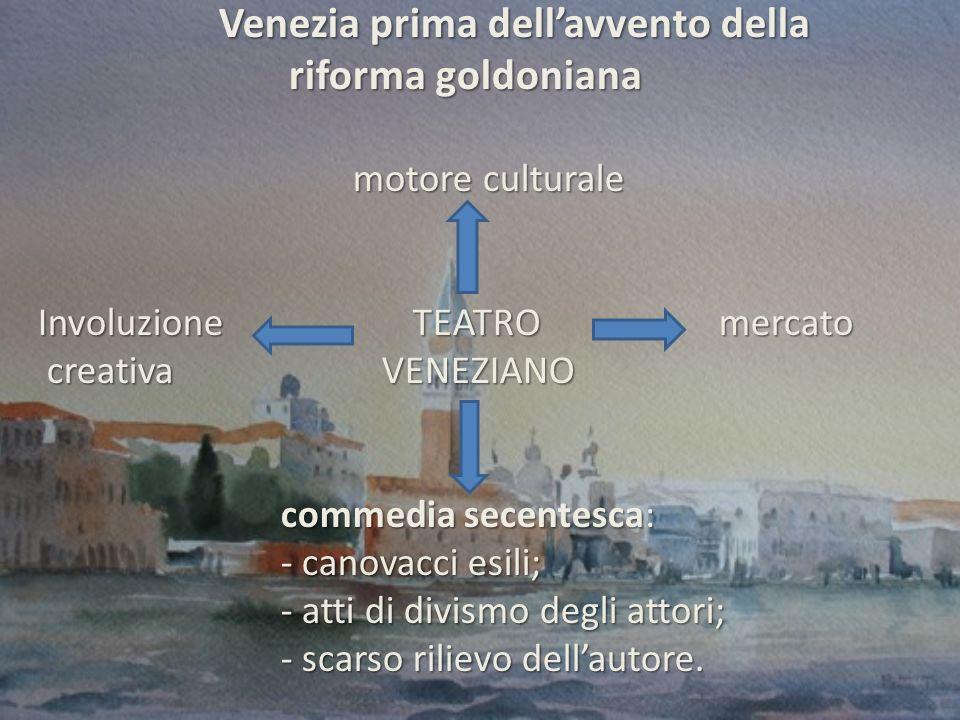 Venezia prima dell'avvento della riforma goldoniana