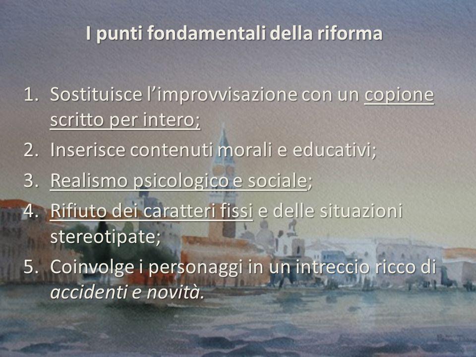 I punti fondamentali della riforma