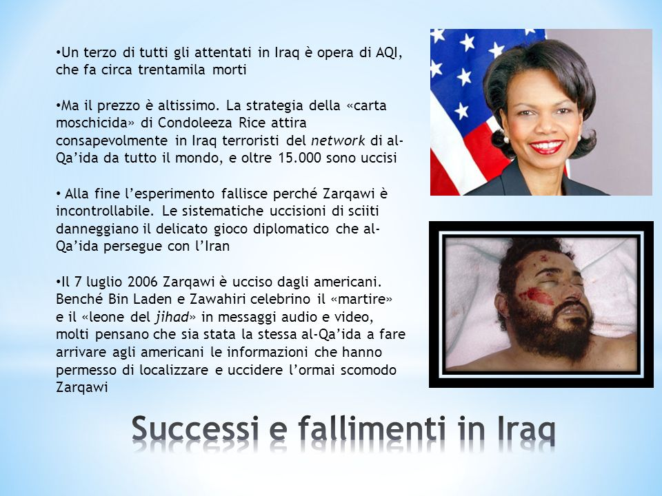 Successi e fallimenti in Iraq