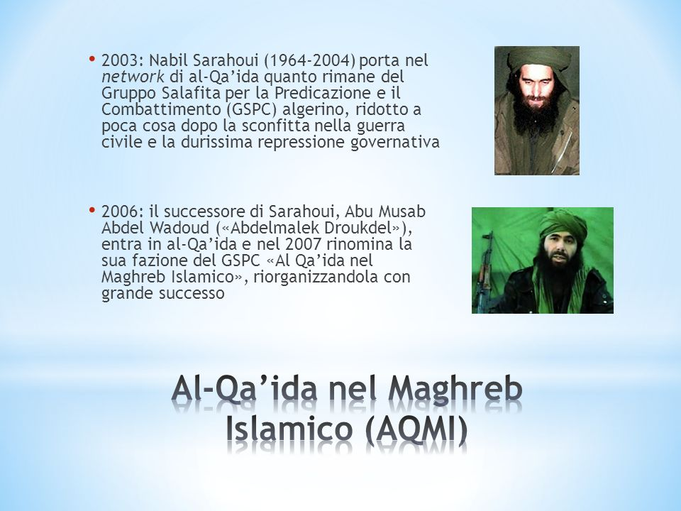 Al-Qa'ida nel Maghreb Islamico (AQMI)