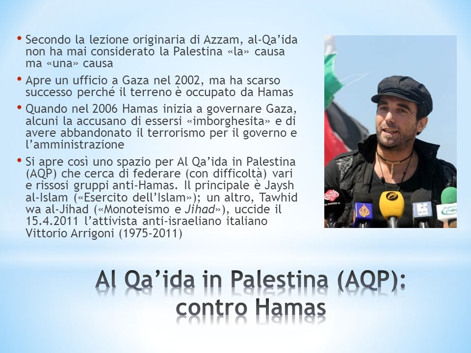 Al Qa'ida in Palestina (AQP): contro Hamas