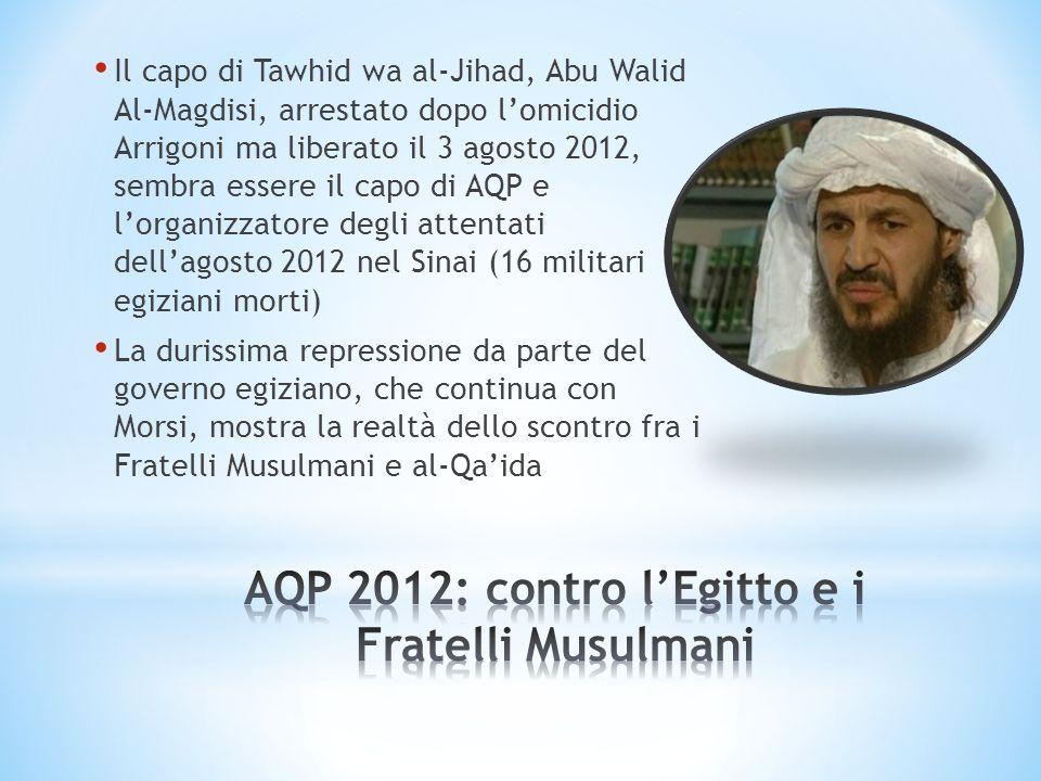 AQP 2012: contro l'Egitto e i Fratelli Musulmani