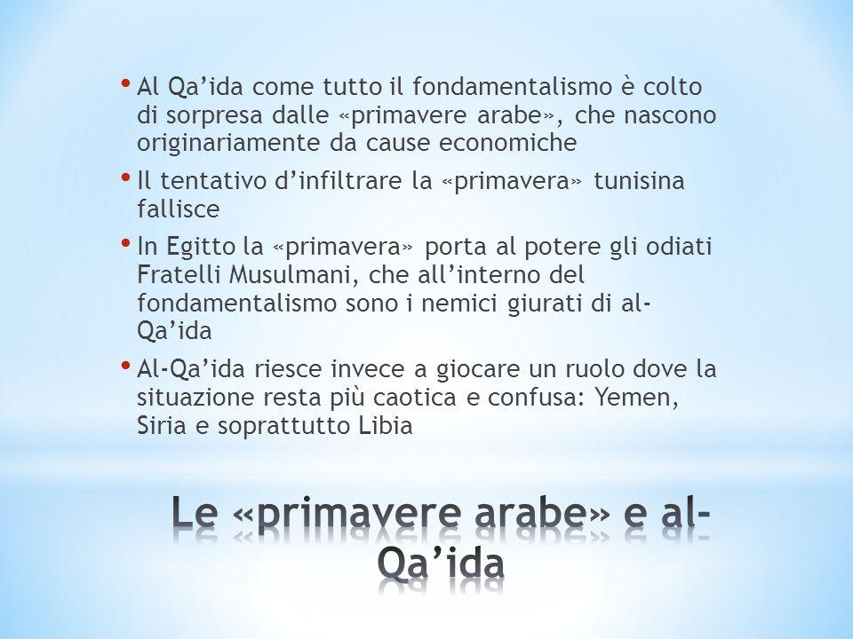 Le «primavere arabe» e al-Qa'ida