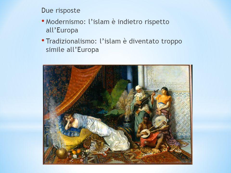 Due risposte Modernismo: l'islam è indietro rispetto all'Europa.