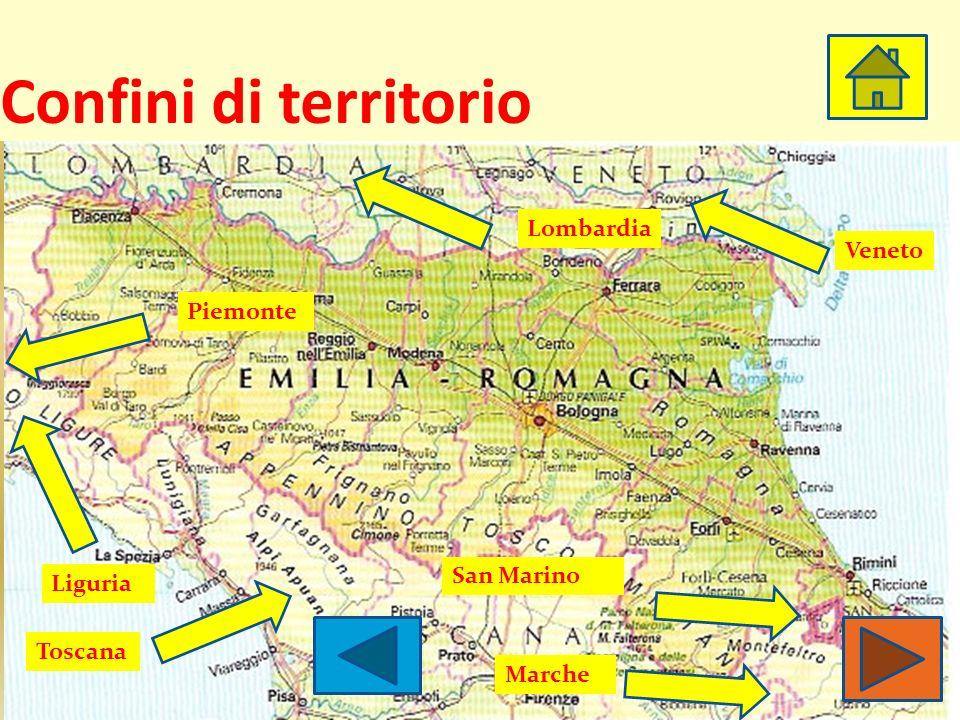 Confini di territorio Lombardia Veneto Piemonte San Marino Liguria