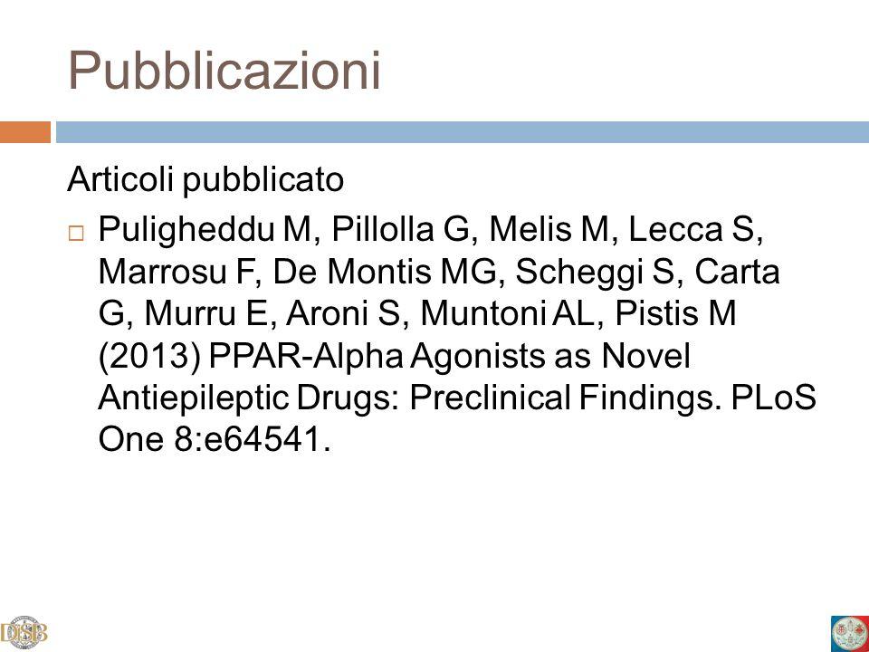 Pubblicazioni Articoli pubblicato