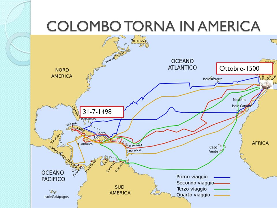 COLOMBO TORNA IN AMERICA