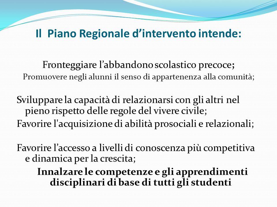 Il Piano Regionale d'intervento intende: