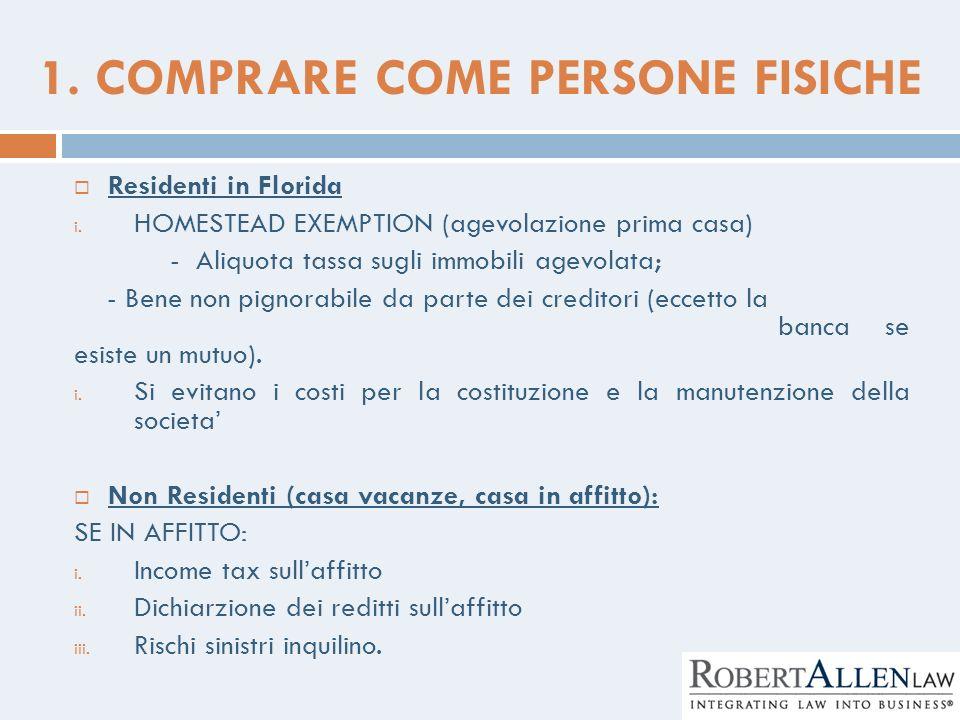 1. COMPRARE COME PERSONE FISICHE
