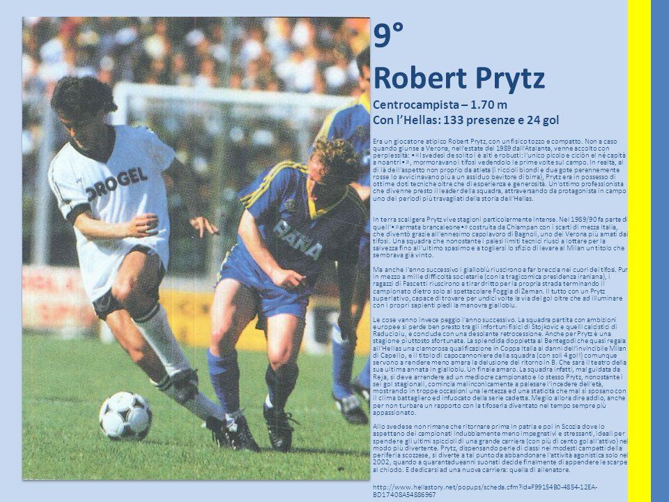 9° Robert Prytz Centrocampista – 1.70 m