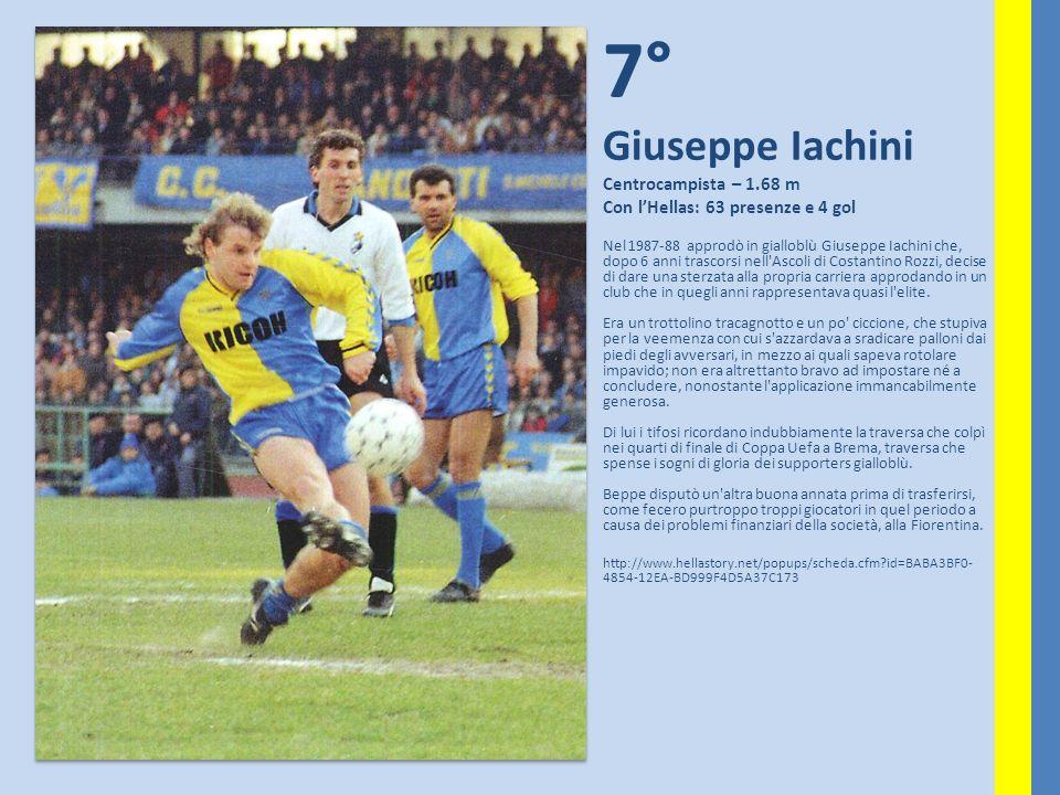 7° Giuseppe Iachini Centrocampista – 1.68 m