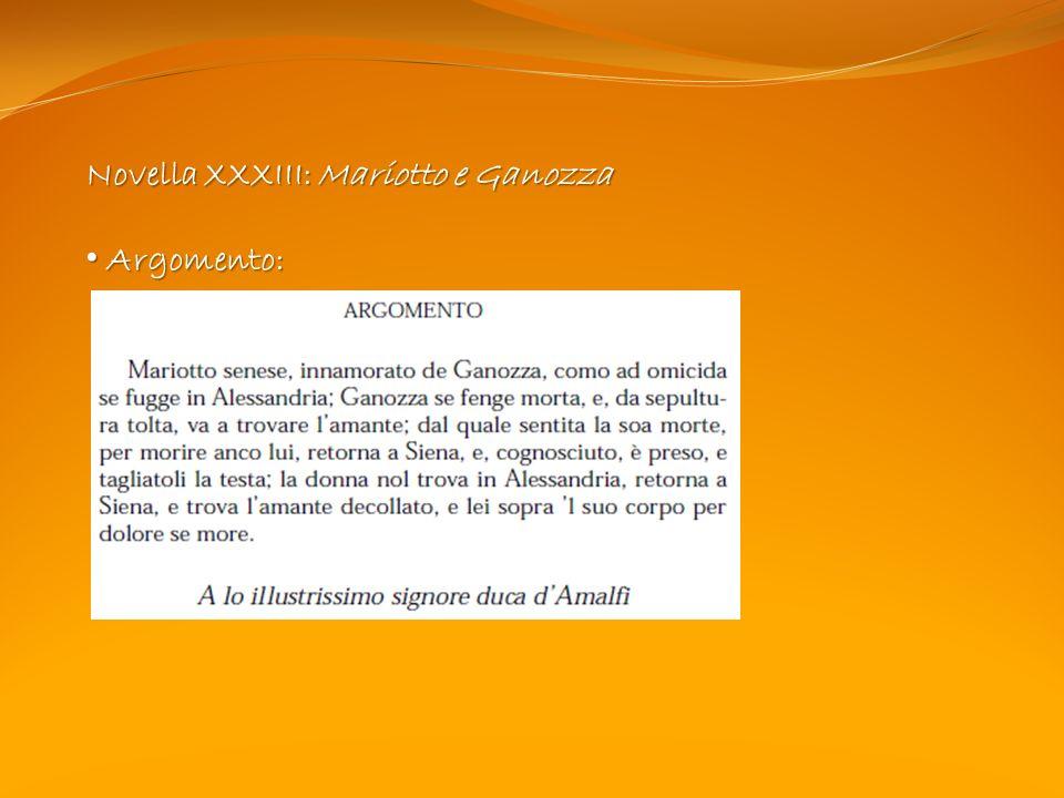 Novella XXXIII: Mariotto e Ganozza