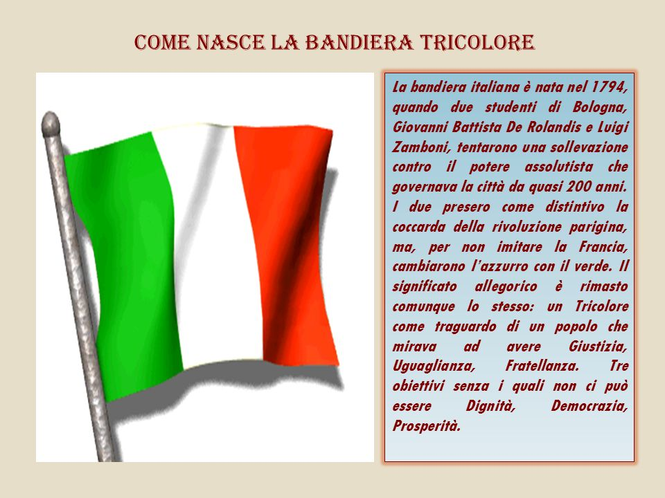Come nasce la bandiera tricolore