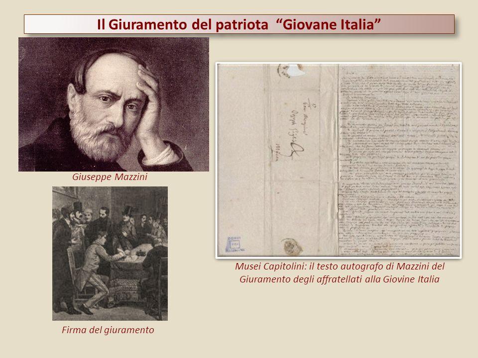 Il Giuramento del patriota Giovane Italia