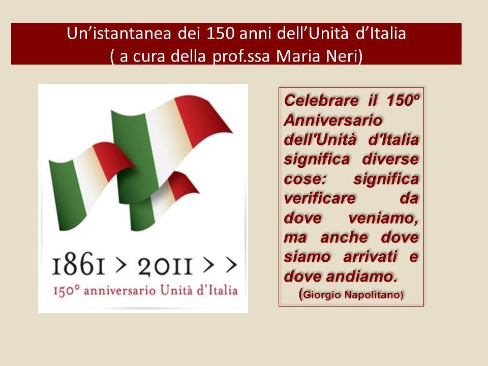Un'istantanea dei 150 anni dell'Unità d'Italia ( a cura della prof