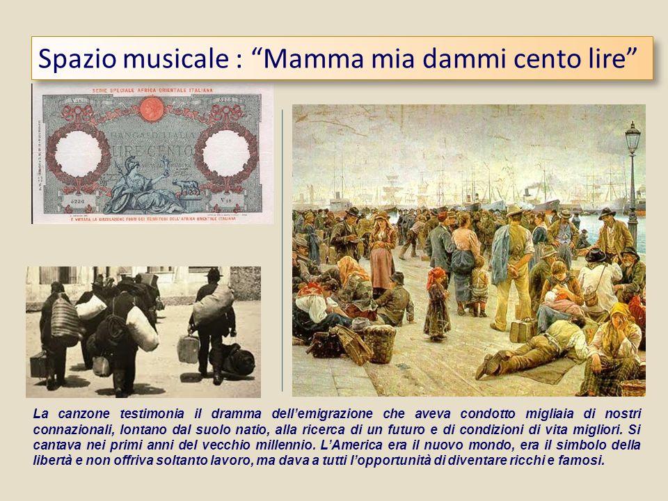 Spazio musicale : Mamma mia dammi cento lire