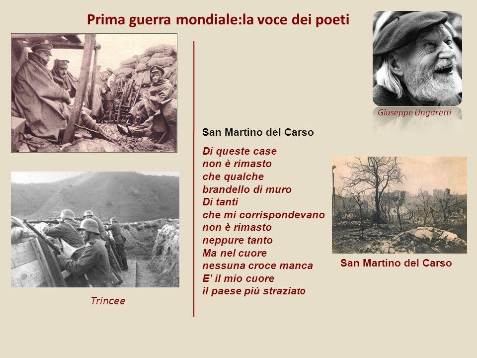 Prima guerra mondiale:la voce dei poeti