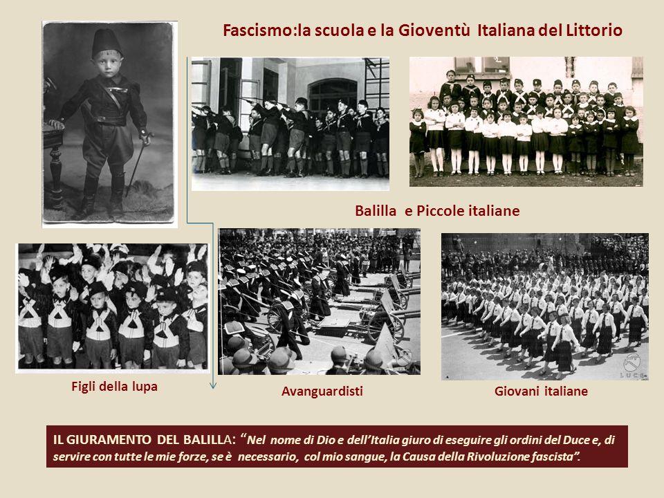 Fascismo:la scuola e la Gioventù Italiana del Littorio