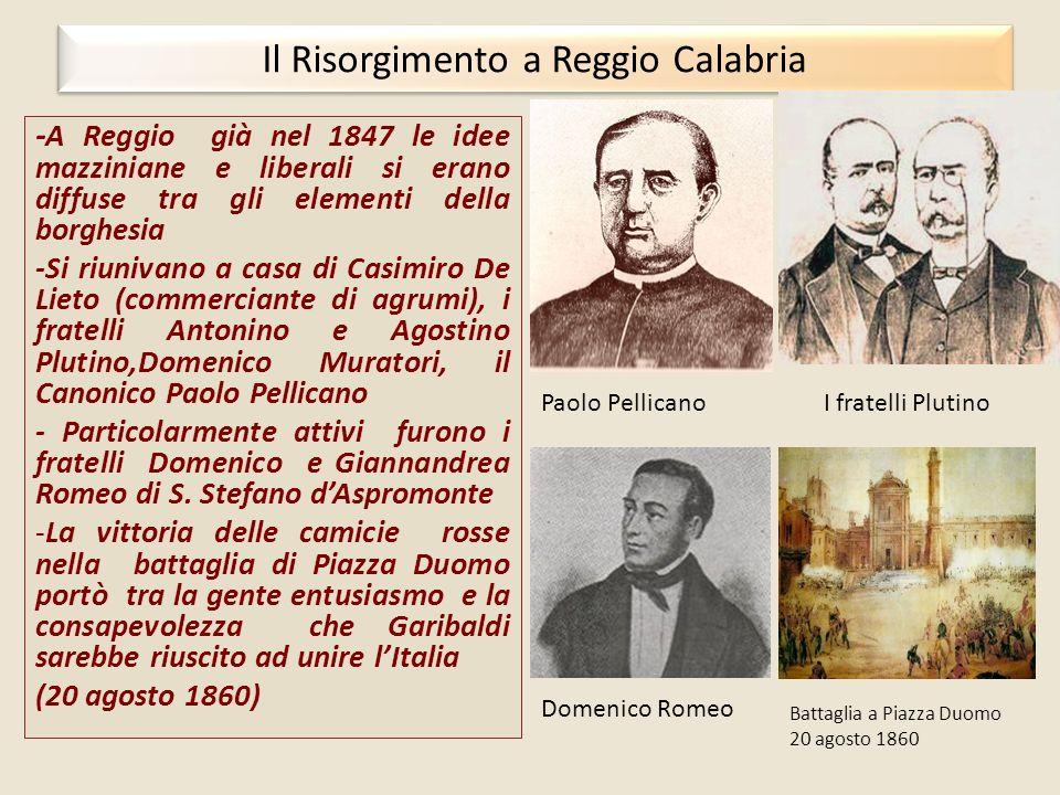 Il Risorgimento a Reggio Calabria
