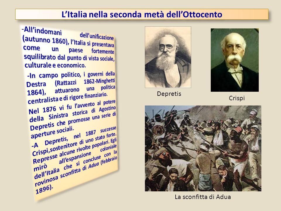 L'Italia nella seconda metà dell'Ottocento
