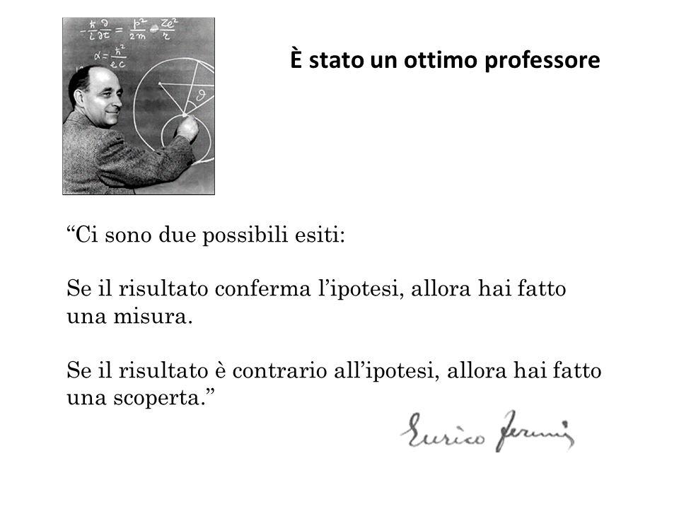 È stato un ottimo professore