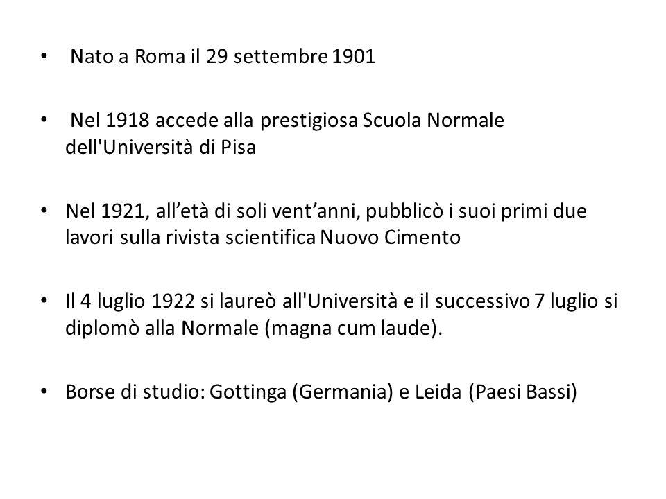 Nato a Roma il 29 settembre 1901