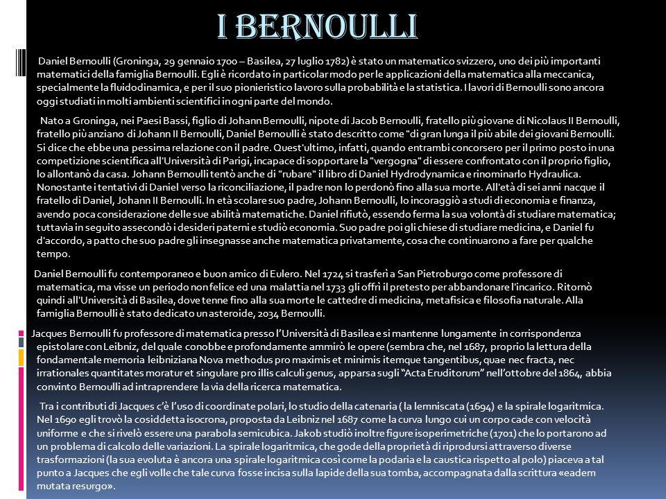 I Bernoulli