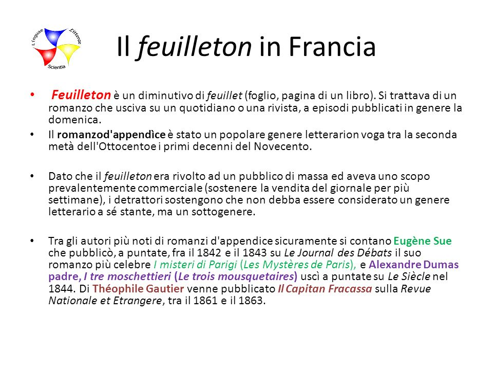 Il feuilleton in Francia