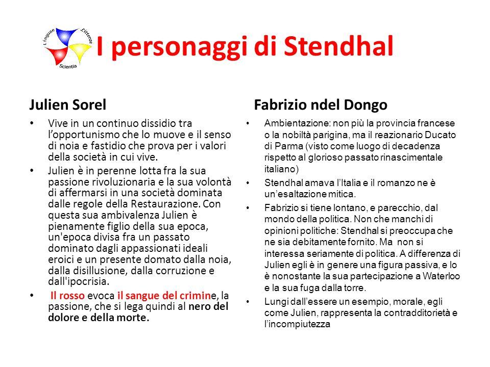 I personaggi di Stendhal