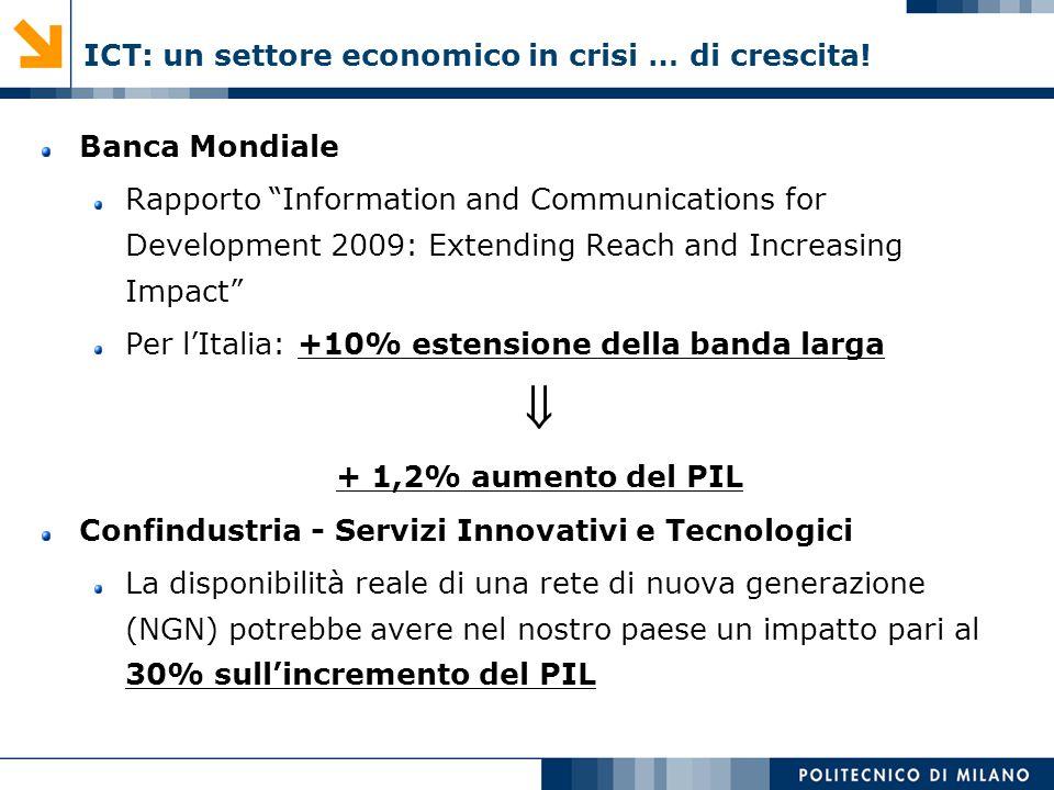 ICT: un settore economico in crisi … di crescita!