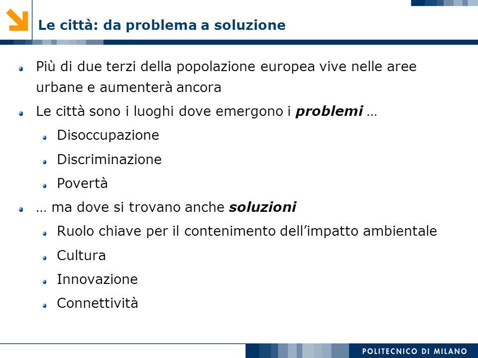 Le città: da problema a soluzione