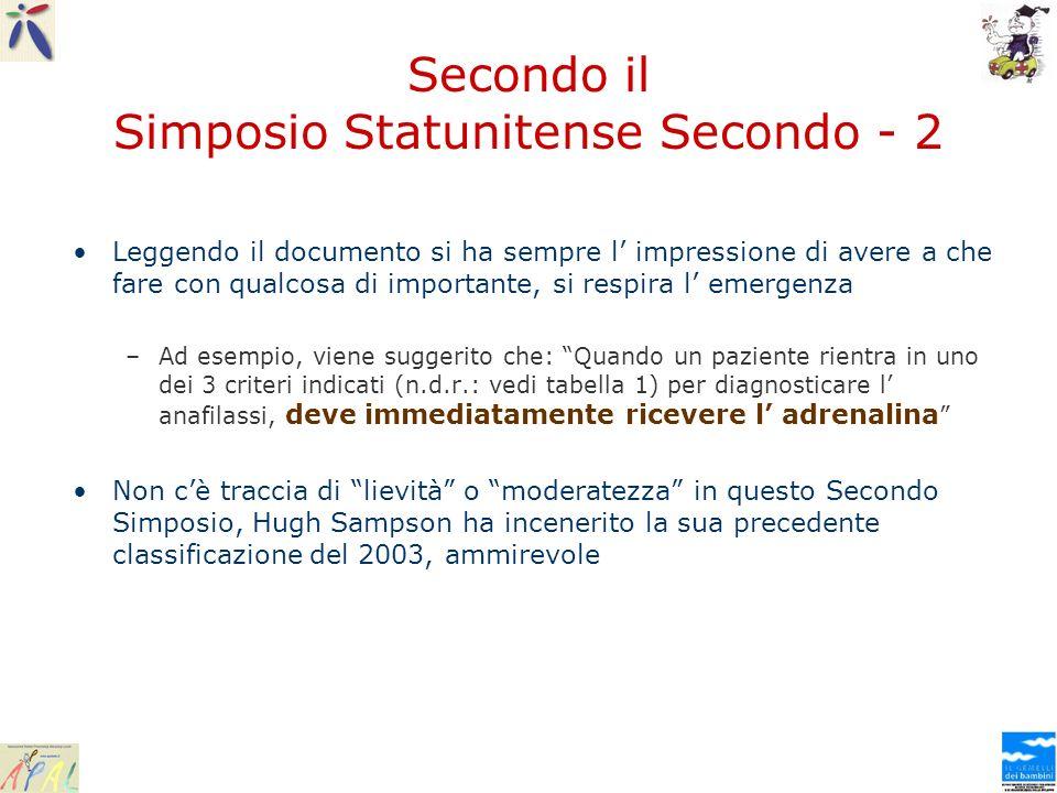 Secondo il Simposio Statunitense Secondo - 2