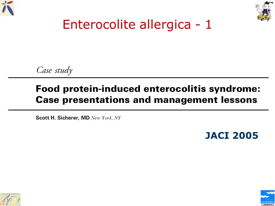 Enterocolite allergica - 1