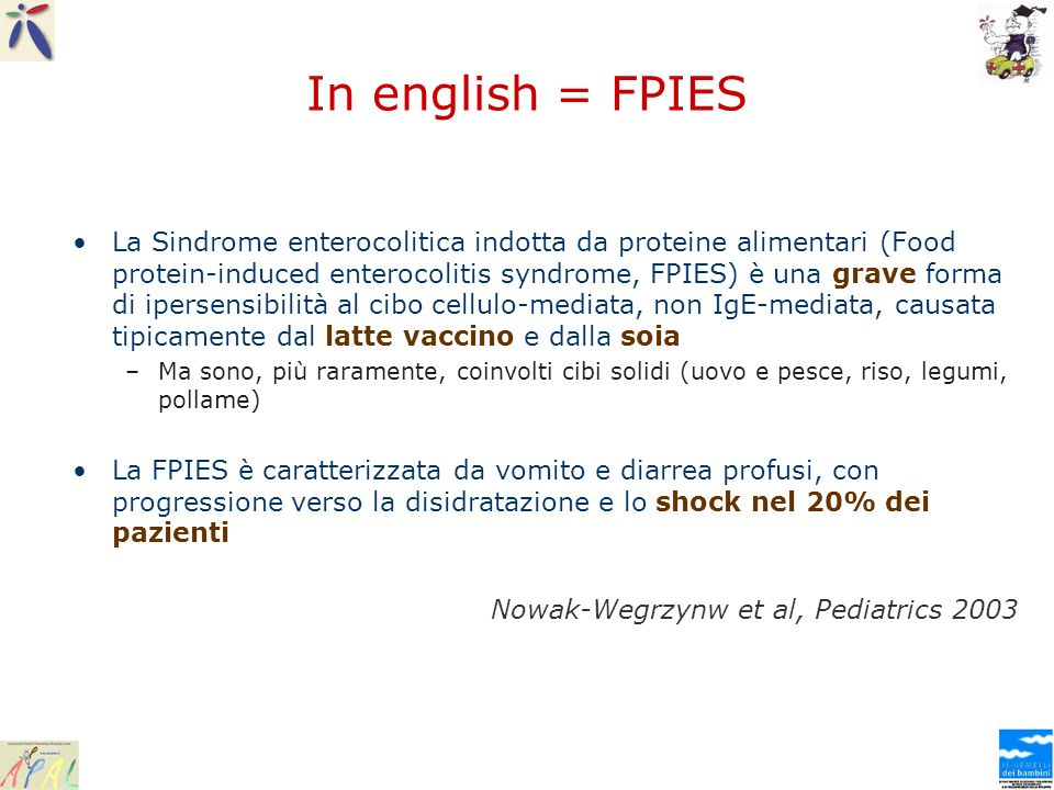 In english = FPIES
