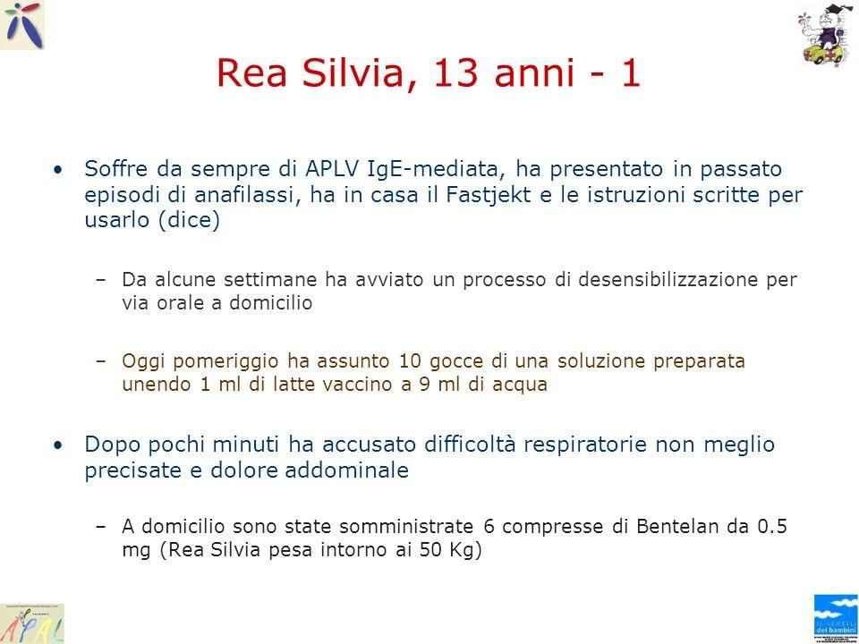 Rea Silvia, 13 anni - 1